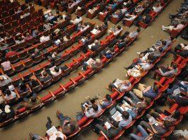 Captivated Audience in Auditorium